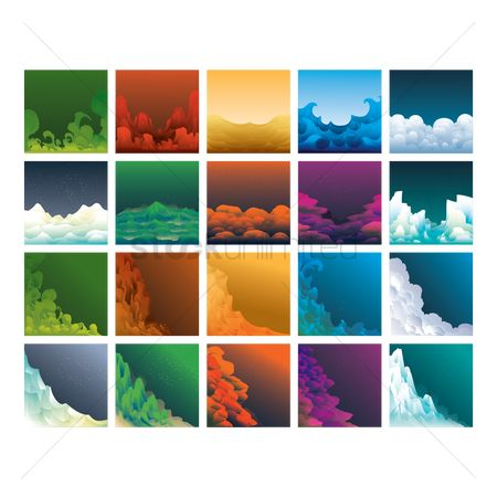 搜藏 : Set of abstract backgrounds