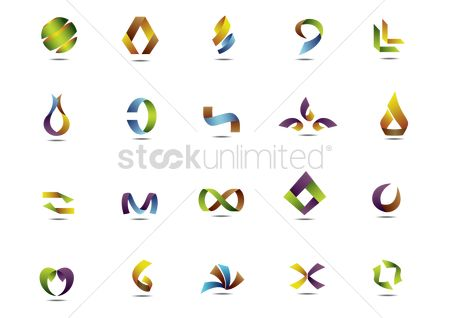 标志 : Set of abstract icons