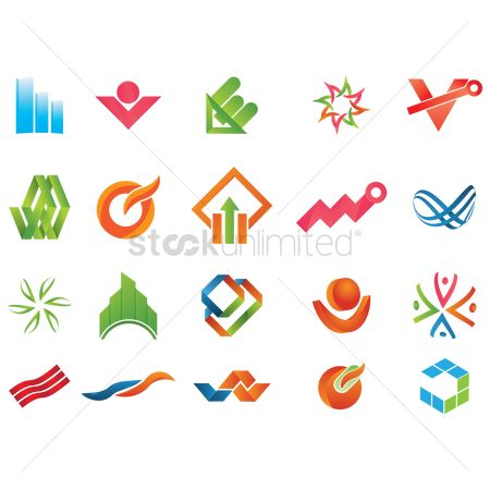 图标 : Set of abstract icons