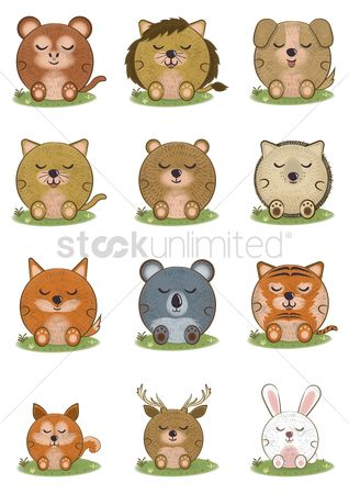 草 : Set of animals