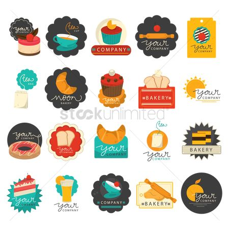 搜藏 : Set of bakery icons