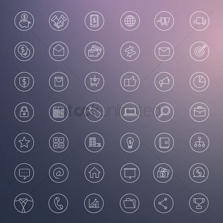 搜藏 : Set of business icons