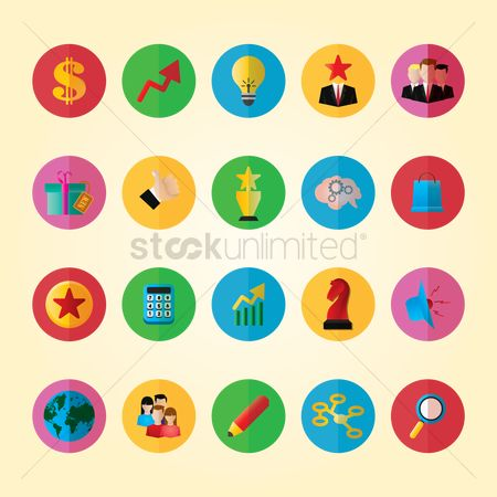 图标 : Set of business icons
