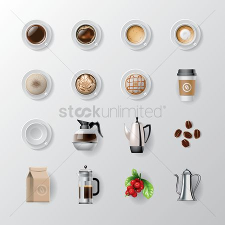 图标 : Set of coffee icons