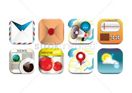 消息 : Set of communication icons