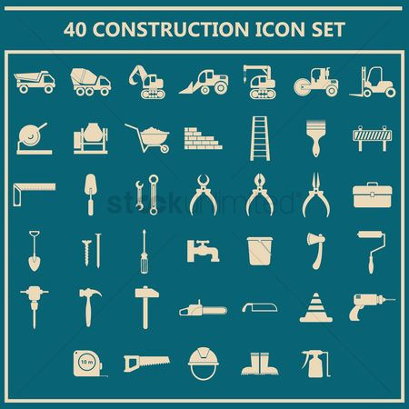 平方 : Set of construction icons