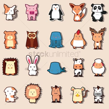 动物 : Set of cute animals