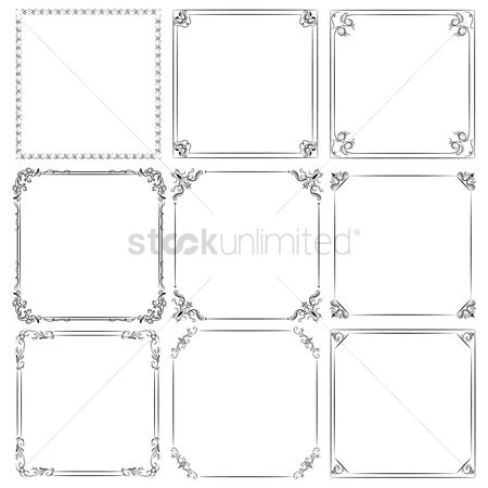 抽象化 : Set of decorative frames