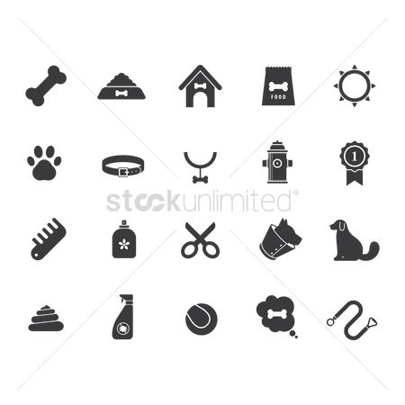 图标 : Set of dog icons