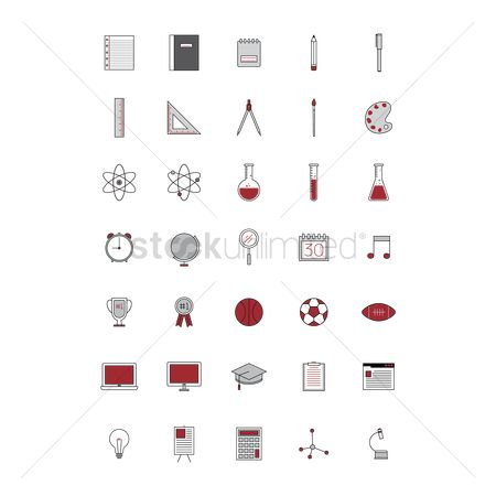 体育 : Set of education icons