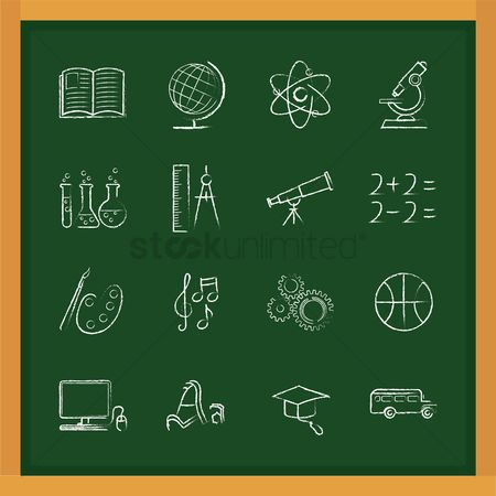 运输 : Set of education icons