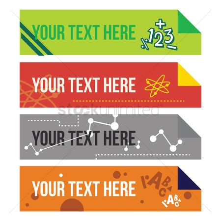 学校 : Set of educational banners