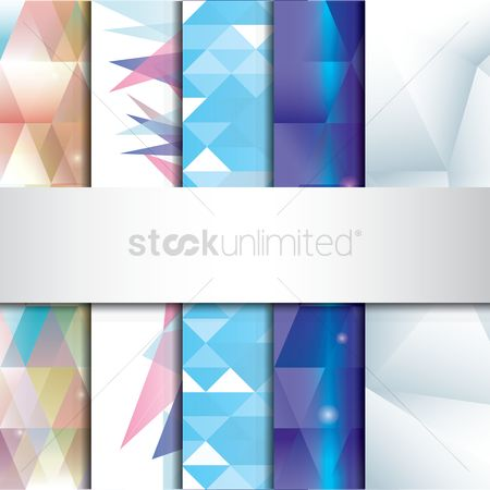 平方 : Set of faceted backgrounds
