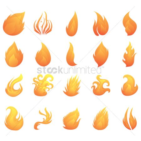 火花 : Set of fire flames
