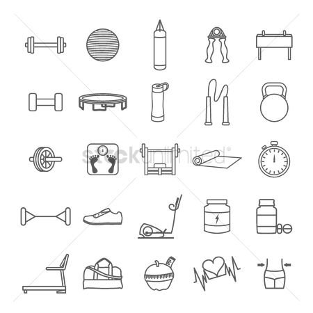 心脏 : Set of fitness icons