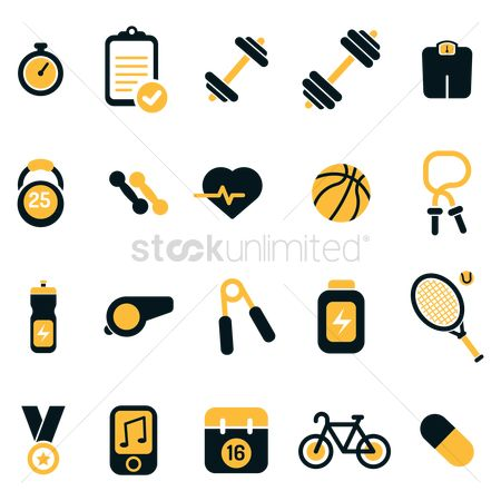 图标 : Set of fitness icons