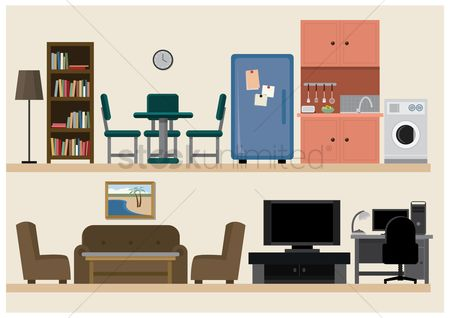 内饰 : Set of furniture icons