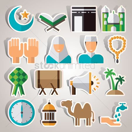 动物 : Set of islamic icons