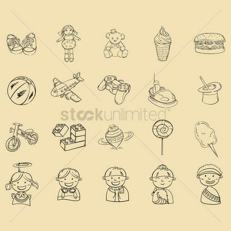 孩子 : Set of kids icons