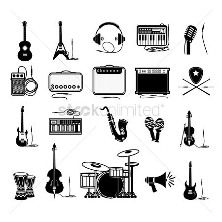 图标 : Set of music icons
