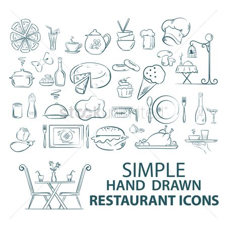 搜藏 : Set of restaurant icons
