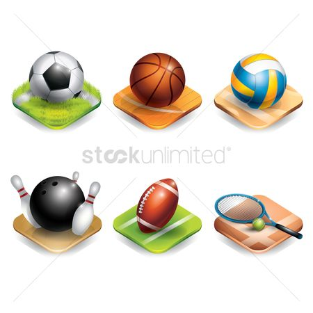 体育 : Set of sports equipment