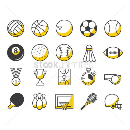 体育 : Set of sports icons