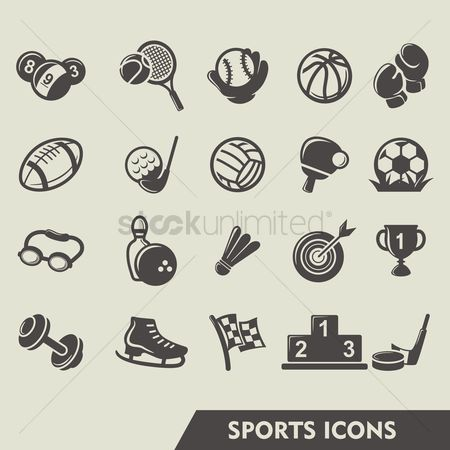 运动员 : Set of sports icons