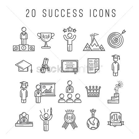 业务 : Set of success icons
