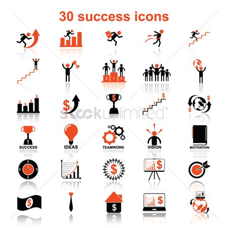 动机 : Set of success icons