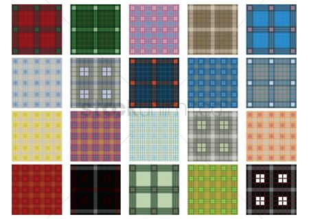 面料 : Set of tartan backgrounds