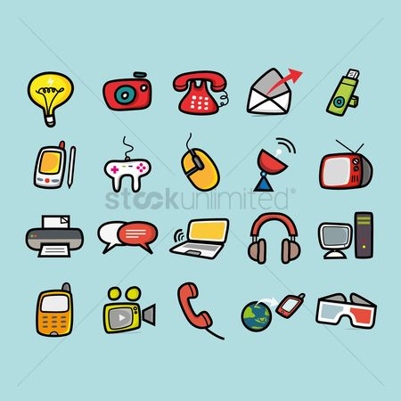 技术 : Set of technology icons