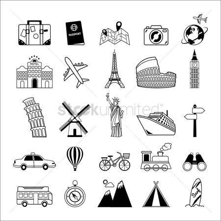 运输 : Set of travel icons