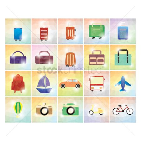 处理 : Set of travel icons