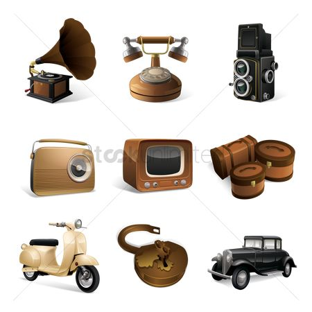 图标 : Set of vintage icons