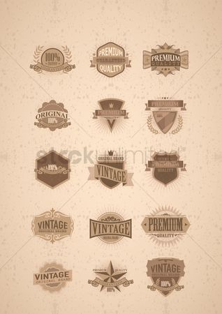 复古 : Set of vintage labels