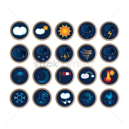 水 : Set of weather icons