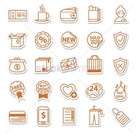 标签 : Shopping icons