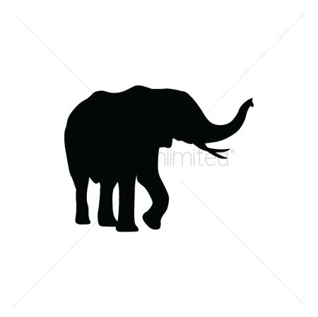 动物野生动物 : Silhouette of elephant