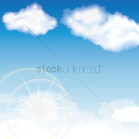 向量 : Sky background