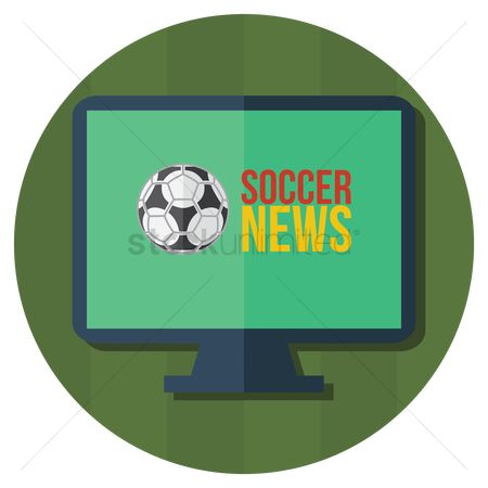 消息 : Soccer news on television