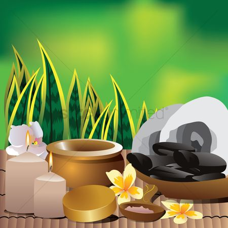 花 : Spa equipment and decoration