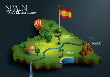 房屋地标 : Spain travel destination