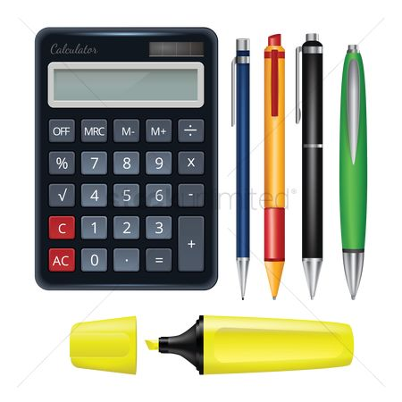 学校 : Stationery supplies set
