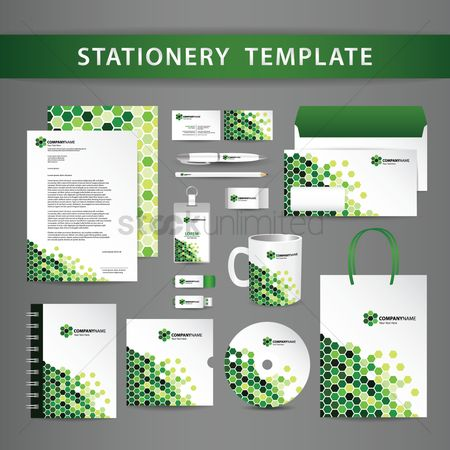 花色 : Stationery template