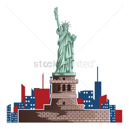 房屋地标 : Statue of liberty design