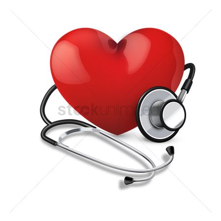 心脏 : Stethoscope with heart