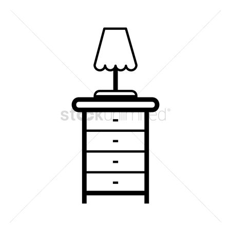 内饰 : Table dresser with lamp