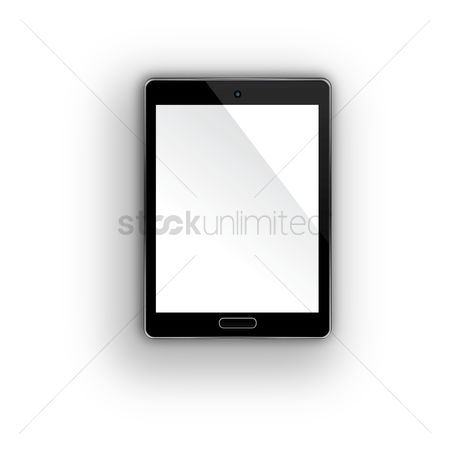 平方 : Tablet pc with blank screen