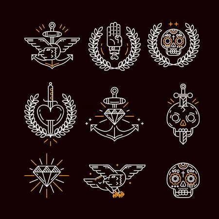 心脏 : Tattoo icon set